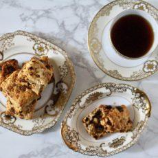 ★レシピ★バター不使用!米粉を使った黒糖くるみ豆乳スコーン